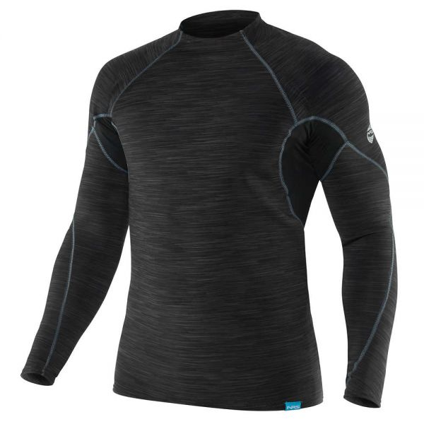 NRS Men's HydroSkin 0.5 Long-Sleeve Shirt black