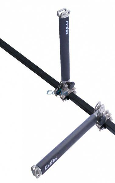Eckla schwenkbare HD-Senkrechtstütze 40cm f. 30x20mmm Dachrträgerholme 79955