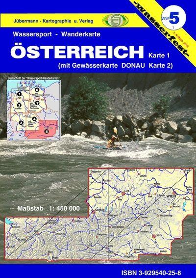 Wildwasserkarte Österreich