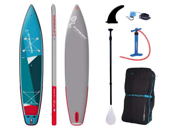 "Starboard 2021 TOURING INFLATABLE SUP 12'6"" X 30"" X 6"" ZEN SC; inkl. 3-pcs ABS/Fieberglas Paddel Siz"