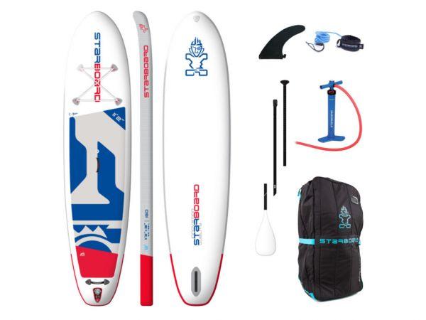 "Starboard 2020 Inflatable SUP 11'2"" X 31"" X 5.5"" iGO ZEN inkl. 3-pcs ABS/Fieberglas Paddel size M"