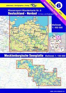 Wassersport-Wanderkarte WW6 Deutschland-Nordost mit Karte der Mecklenburgischen Seen